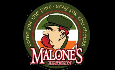 malones round logo med